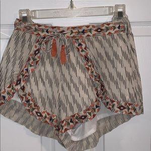 Japna Flowy Patterned Shorts
